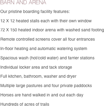 BARN AND ARENA